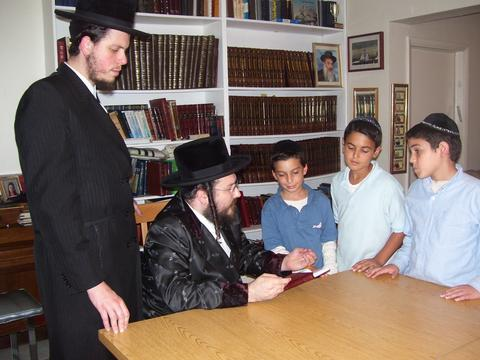 "with the Biala Rebbe, shlit""a"