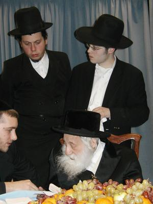 "with the holy Skulener Rebbe, shlit""a"
