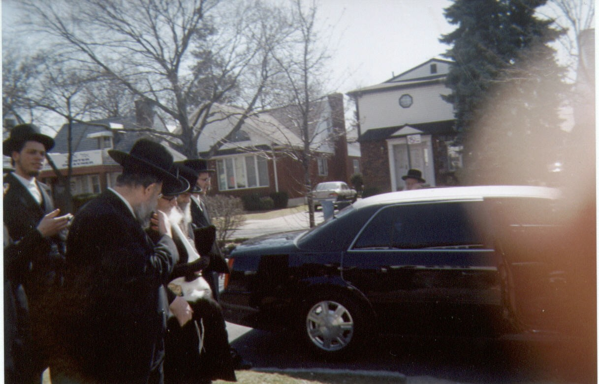 "walking behind the Skverrer Rebbe, shlit""a"